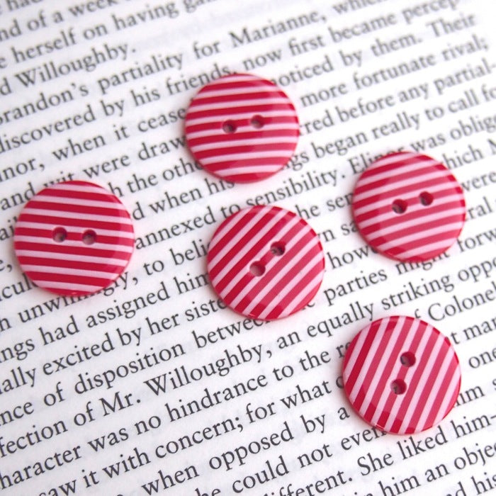 Red Stripe Buttons