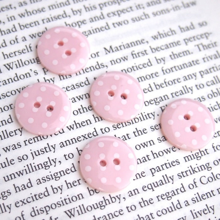 Baby Pink Polka Dot Buttons