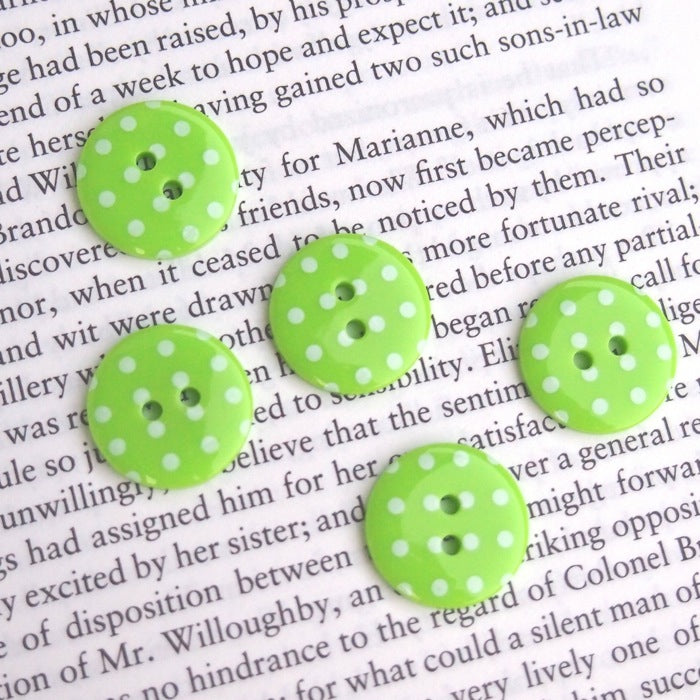 Green Polka Dot Buttons