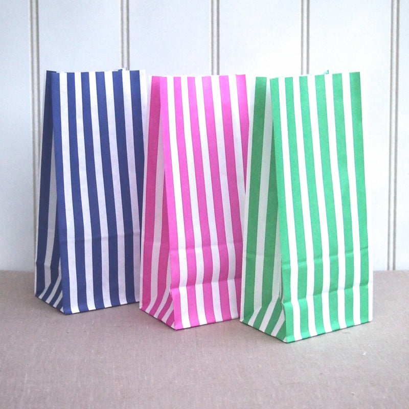 Candy Stripe Block Bottom Bags