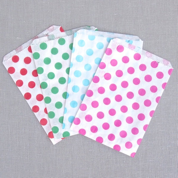 Polka Dot Paper Bags - Small