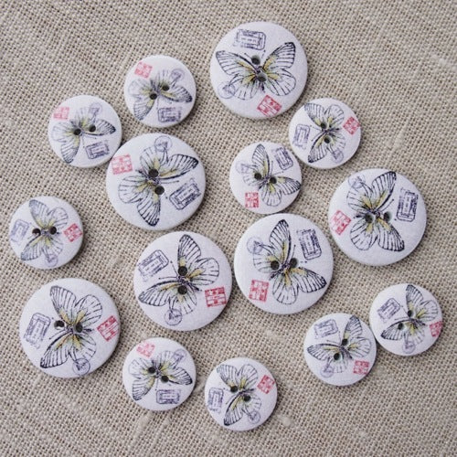 Butterfly Wooden Buttons