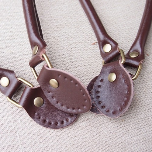 Brown Leather Bag Handles