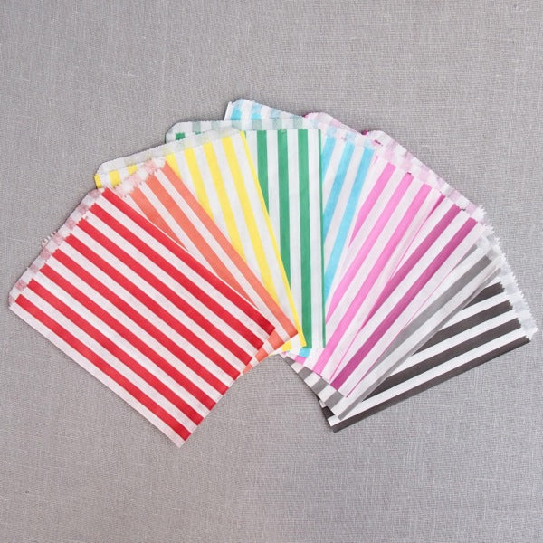Stripe Paper Bags - Small