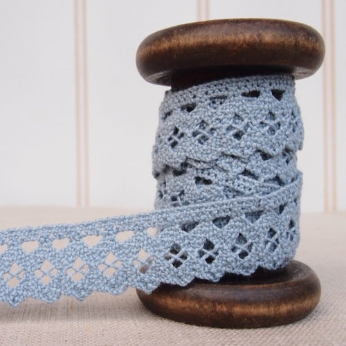 Double Scallop Crochet Lace Trim - 20mm