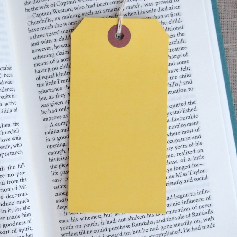 Yellow Gift Tags