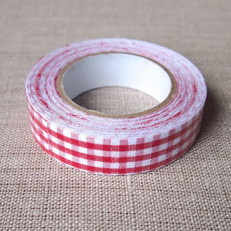 Red Gingham Fabric Tape