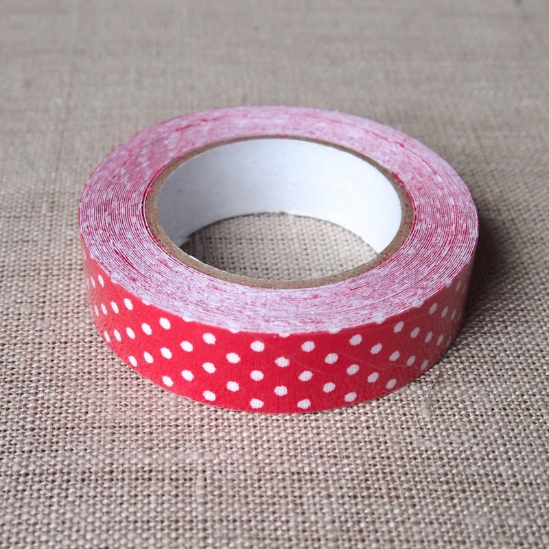 Red Polka Dot Fabric Tape