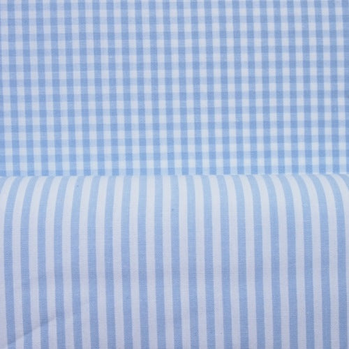 Cotton Vichy Extra Wide - Mini Gingham - Ice Blue