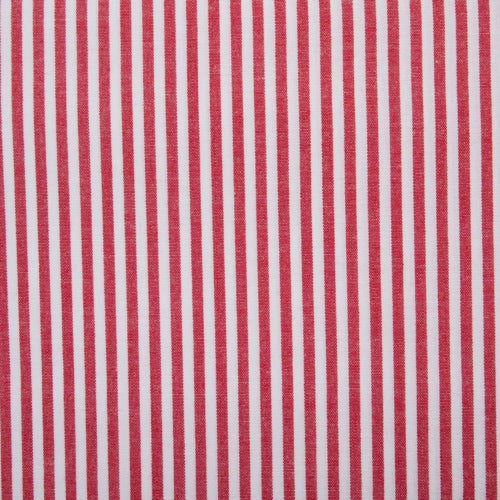 Cotton Vichy Extra Wide - Stripe - Red