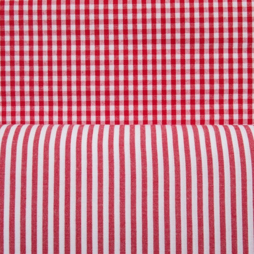 Cotton Vichy Extra Wide - Mini Gingham - Red