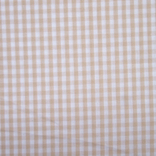 Cotton Vichy Extra Wide - Mini Gingham - Raw Sugar