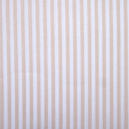 Cotton Vichy Extra Wide - Stripe - Raw Sugar