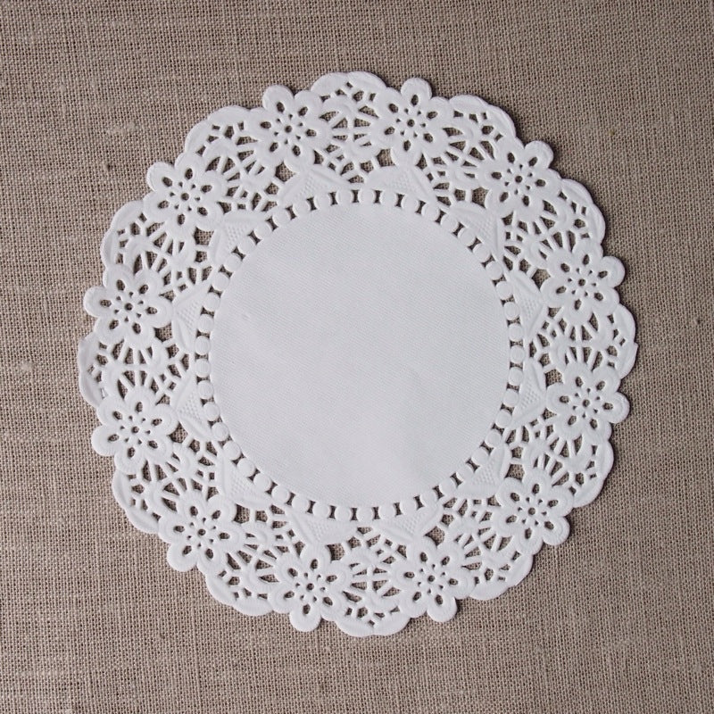 White Round Doilies - 6.5 inches
