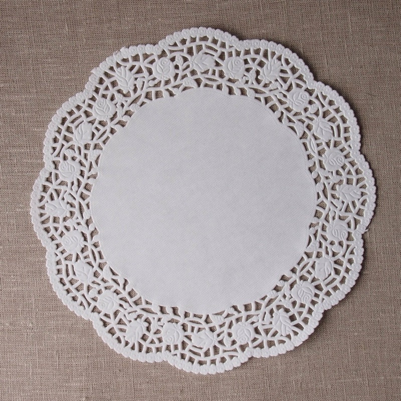White Round Doilies - 10.5 inches