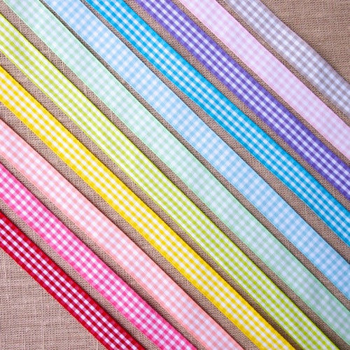 Gingham Ribbon - 15mm