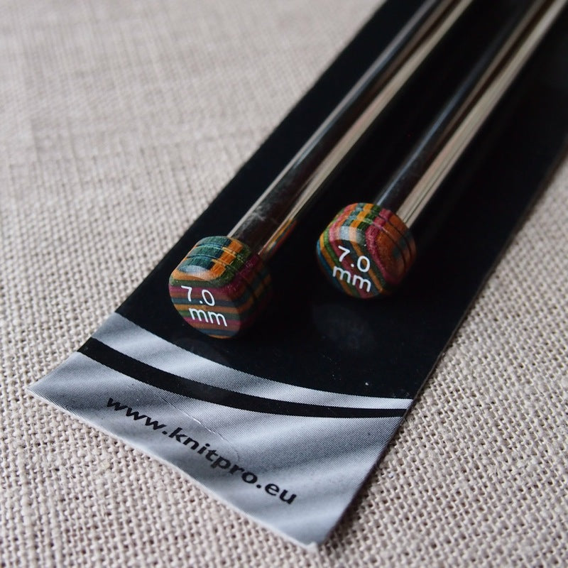 KnitPro Nova Metal Knitting Needles 30cm - 7mm