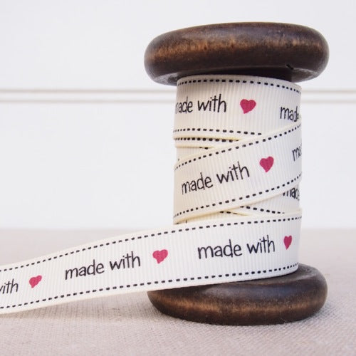 Made with Love Grosgrain Ribbon - 16mm