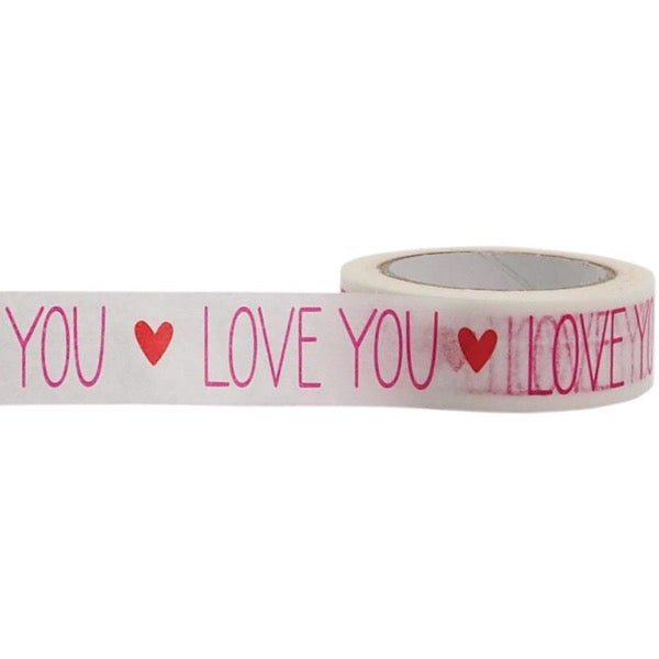 Little B 15mm Paper Tape - Love You