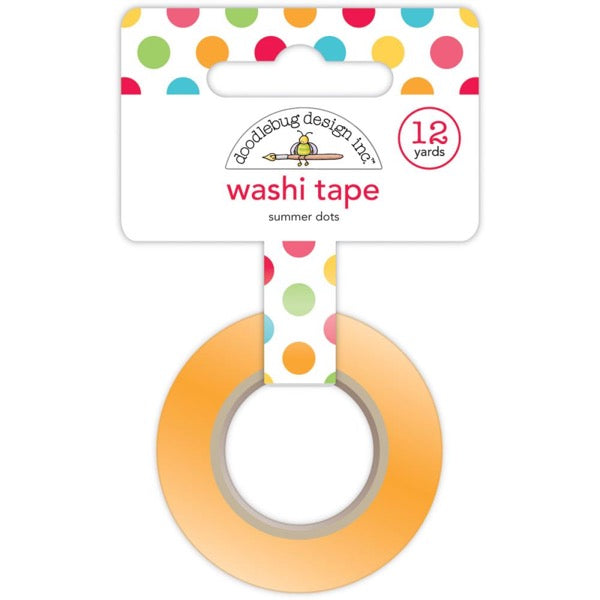 Doodlebug Designs Washi Tape - Summer Dots