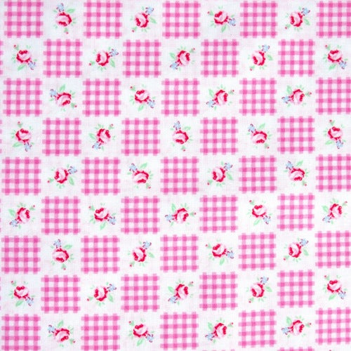 Lecien - Flower Sugar - Gingham Patchwork - Pink