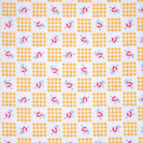 Lecien - Flower Sugar - Gingham Patchwork - Yellow