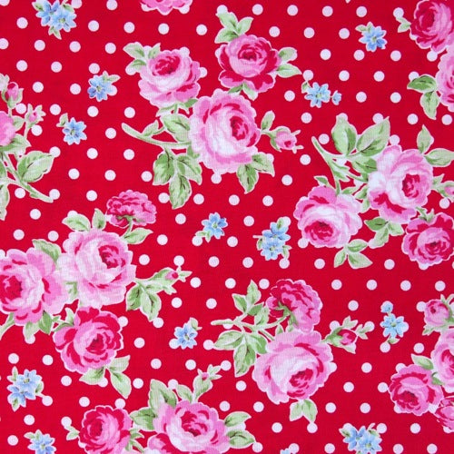Lecien - Flower Sugar - Polka Dot Rose - Red
