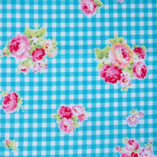 Lecien - Flower Sugar - Gingham Rose - Blue