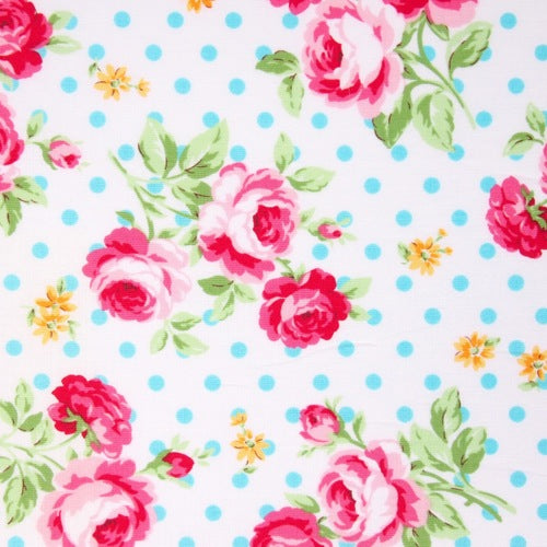 Lecien - Flower Sugar - Polka Dot Rose - Blue
