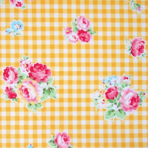 Lecien - Flower Sugar - Gingham Rose - Yellow