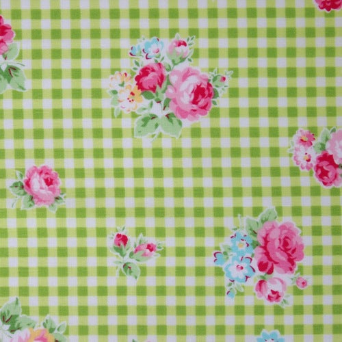 Lecien - Flower Sugar - Gingham Rose - Green