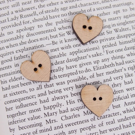 Large Heart Wooden Buttons