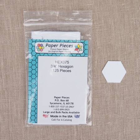 Paper Pieces - Hexagon 3/4 inch