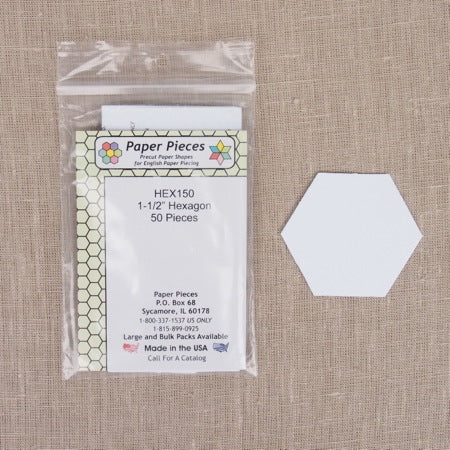 Paper Pieces - Hexagon 1 1/2 inch
