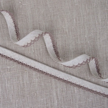 Natural Lace Edge Linen Bias Binding -18mm
