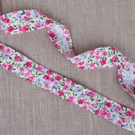 Mini Flowers Bias Binding -25mm