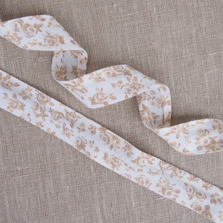 Natural Flowers Floral Bias Binding -25mm