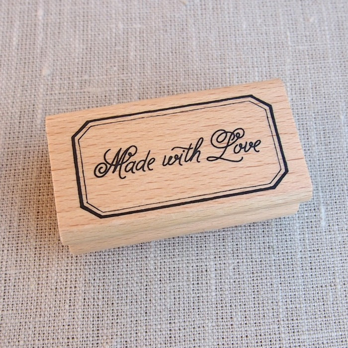 Made With Love (Border) Wooden Stamp