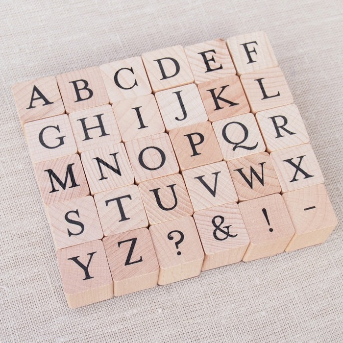 A to Z Alphabet Wooden Stamp Set