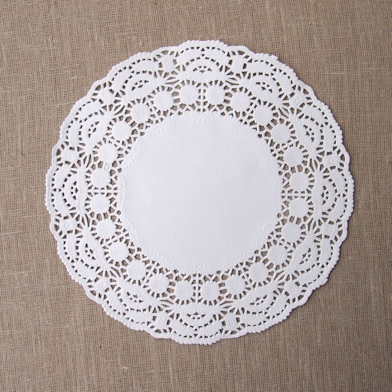 White Round Doilies - 8.5 inches