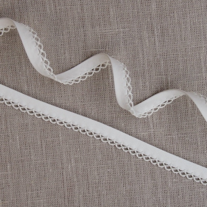 Cream Lace Edge Bias Binding -18mm