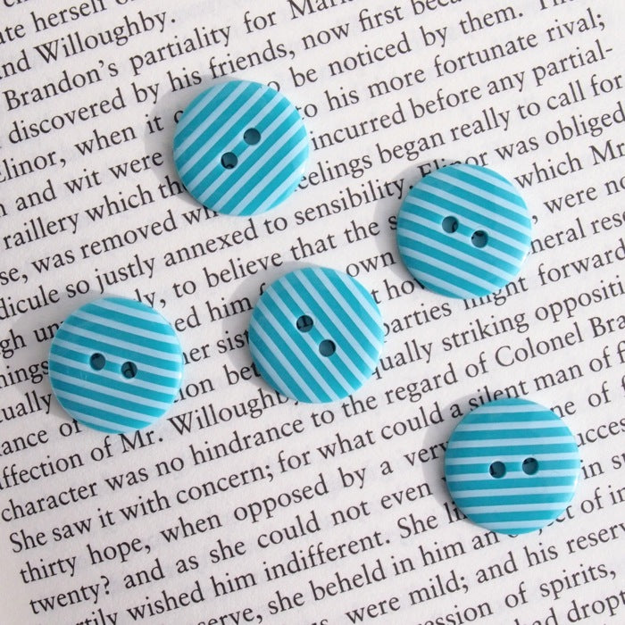 Turquoise Stripe Buttons