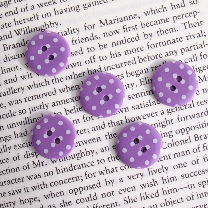 Purple Polka Dot Buttons