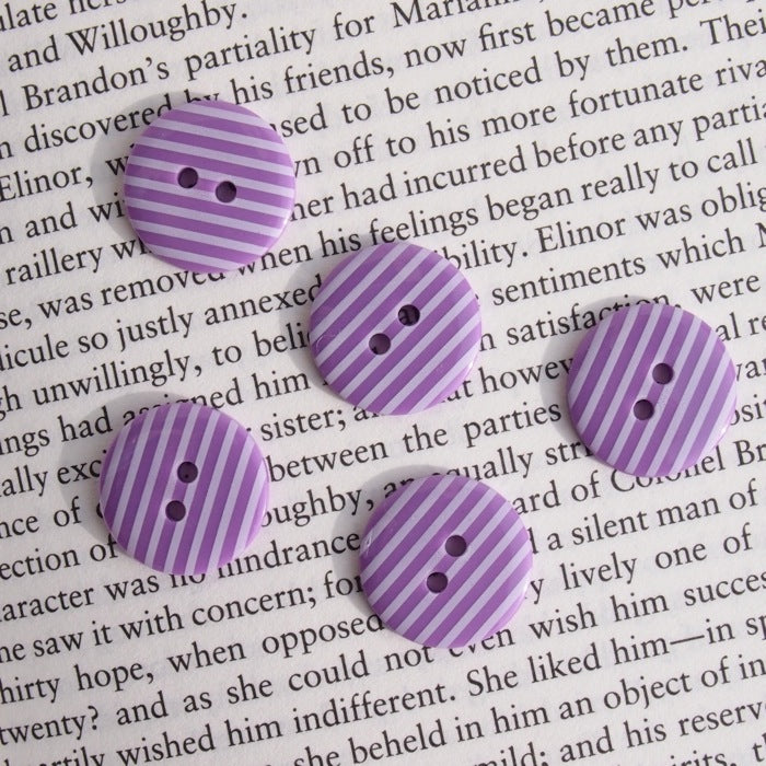 Purple Stripe Buttons