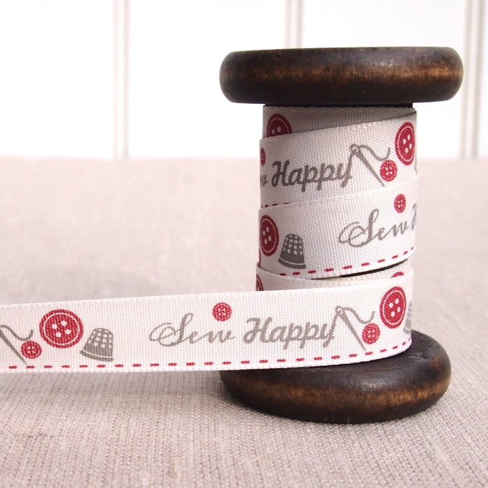 Sew Happy Ribbon - 15mm - Red