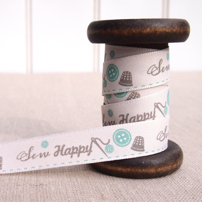 Sew Happy Ribbon - 15mm - Duck Egg
