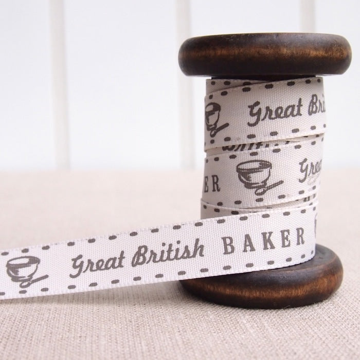 Great British Baker Ribbon - 15mm - Natural
