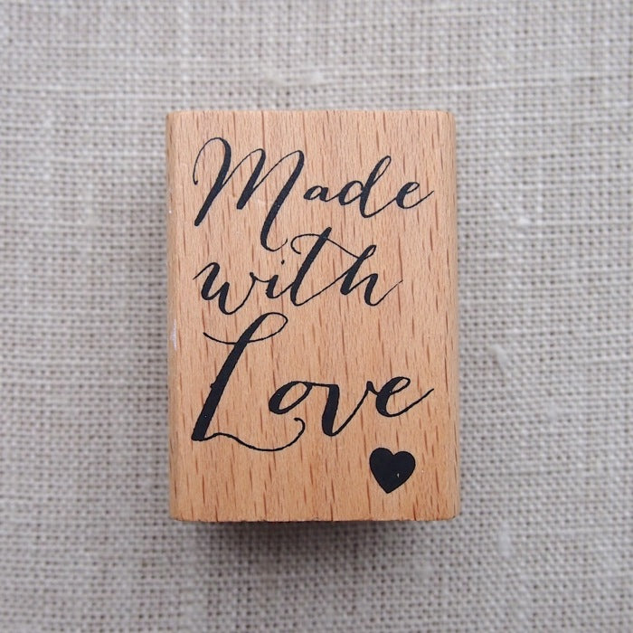 Made with Love Wooden Stamp