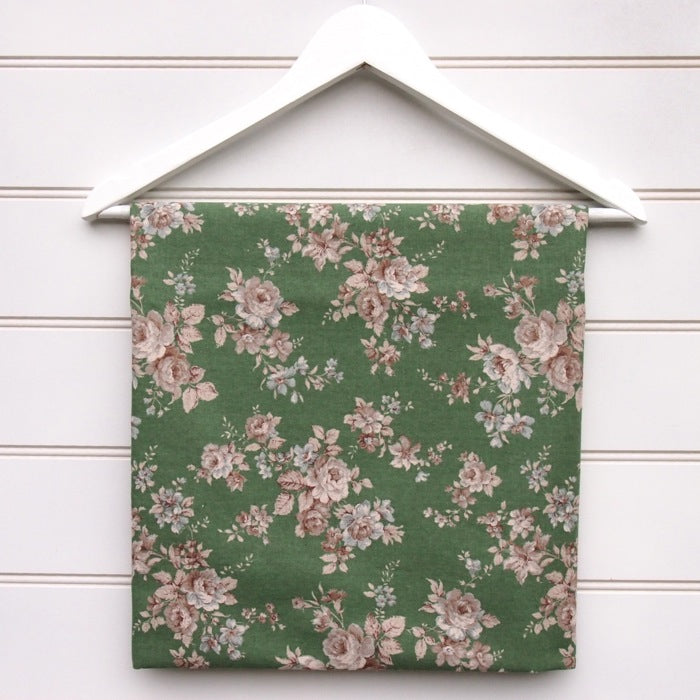 Sevenberry Antique Green Rose Linen