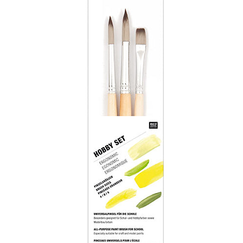 3 Piece Paint Brush Set